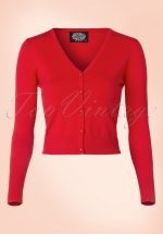50s Eva Cardigan in Lipstick Red
