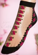 30s Romantic Rosy Socks in Fuchsia