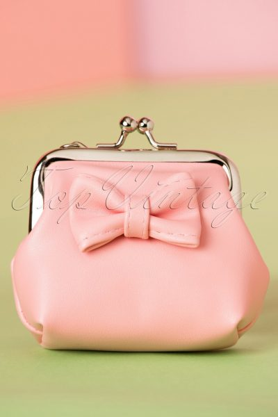 50s Sienna Bow Small Wallet in Pink