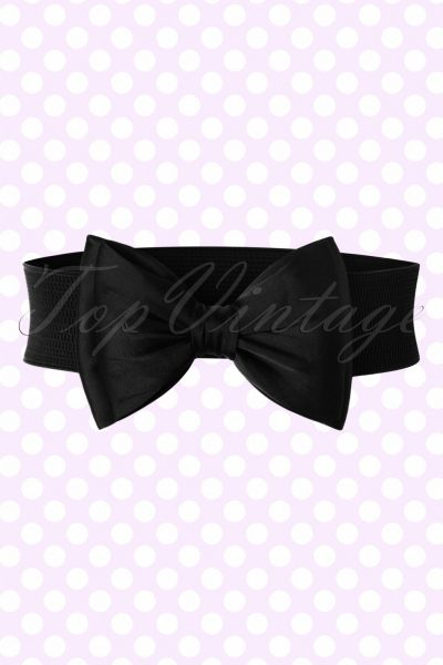 50s Bella Bow Belt in Black