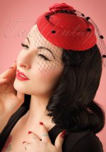 50s Marilyn Fascinator in Red