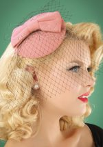 50s Candice Hat in Old Pink