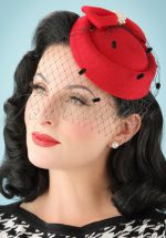 50s Judy Hat in Red
