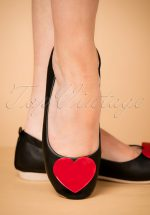 50s Foldable Heart Ballerina in Black