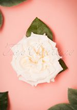 50s Garden Rose Hair Clip in Cream