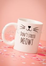 60s Don't Stress Meowt Mug