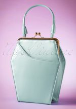 50s To Die For Handbag In Ice Blue