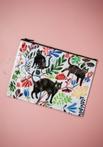 50s Here Kitty Zipper Pouch