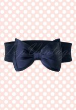50s Bella Bow Belt in Navy