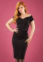 50s Wanda Pencil Dress in Black