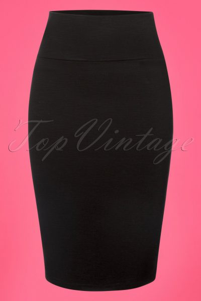 50s Audrey Pencil Skirt in Black