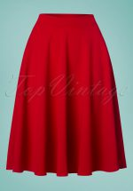 50s Sheila Swing Skirt in Lipstick Red