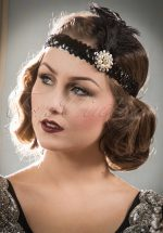 20s Her Ladyships Feather Headband