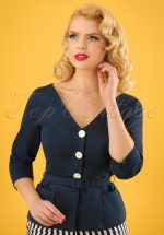 50s Charlotte Suit Jacket in Navy