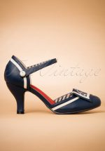 40s Mary Jane Beaufort Spice Pumps in Navy