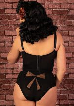 50s Retro High Waist Bow Knickers in Black