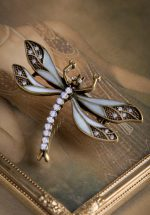 20s How To Train Your Dragonfly Brooch in Heavenly Blue
