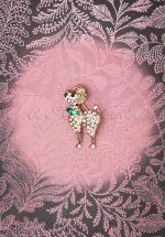 50s Small Poodle Brooch in Gold