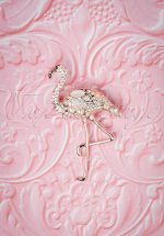 50s Flaunt my Flamingo Brooch in Rose Gold