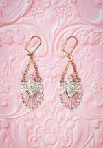 20s Deco Statement Drop Earrings in Gold and Silver