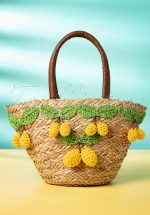 50s Limon Basket Wicker Bag in Natural