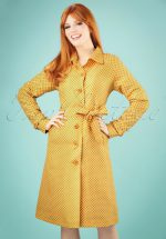 60s Lizzy Vichy Trenchcoat in Sunset Yellow