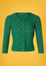 50s Jennie Cardigan in Kelly Green