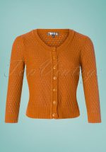 50s Jennie Cardigan in Light Orange