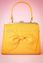 50s Inez Sunshine In My Pocket Handbag in Yellow