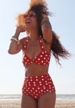 50s Classic Polka Bikini Pants in Red and White