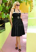 50s Alice Swing Dress in Black
