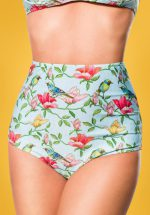 50s Bibi Birds Bikini Pants in Mint
