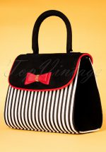 50s Banjul Handbag in Black and White