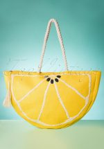50s Citrus Tote Bag in Yellow