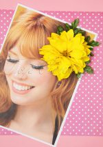 50s Claire Hair Flower in Yellow