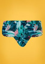 50s Flipover Bikini Brief in Tropical Flowers