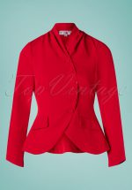 40s Clemence Jacket in Red