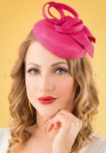 50s Sophie Fascinator in Pink