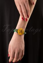 70s Primrose Bracelet in Yellow