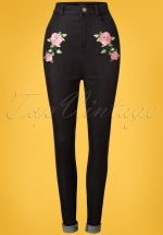 50s Becca Rose Jeans in Black