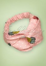 50s Pina Colada Head Band in Pink