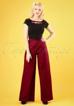 50s Opal Classic Trousers in Burgundy