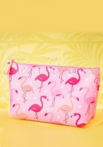 50s Flamingo Parade Make Up Pouch