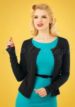 50s Getaway Cardigan in Black
