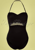 50s Estelle Swimsuit in Black