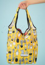 60s Crissa Shopping Bag in Yellow