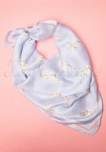 50s Mathilda Kitten Scarf in Blue