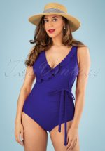 50s Grace One Piece Swimsuit in Bossanova