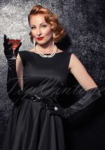 The Satin Chic Gloves in Black
