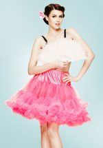 50s Retro Short Petticoat Chiffon in Hot Pink